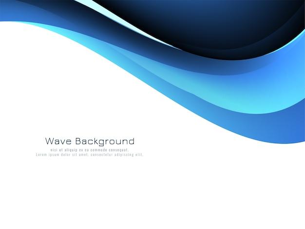 Vetor de fundo de estilo de onda azul abstrato Vetor grátis