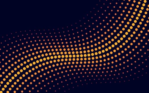 Vetor de fundo de meio-tom de onda amarela Vetor grátis