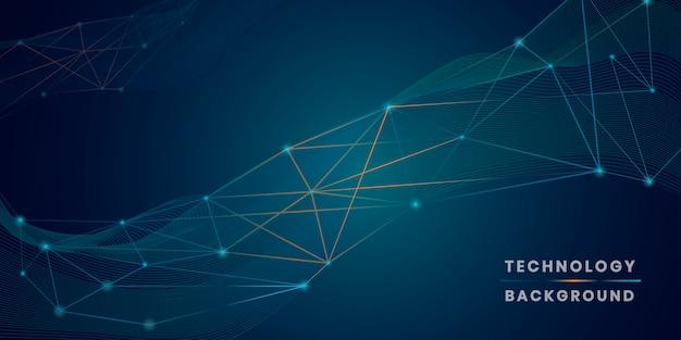 Vetor de fundo de tecnologia futurista de rede azul Vetor grátis