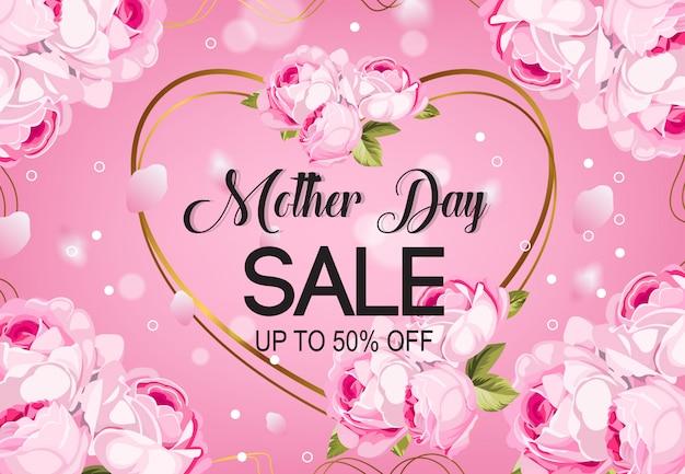 Vetor de fundo de venda de dia de mãe Vetor Premium