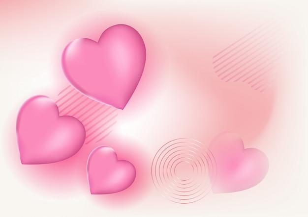 Vetor de fundo lindo amor Vetor Premium