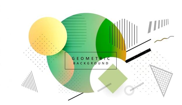 Vetor de fundo moderno colorido de forma geométrica memphis Vetor Premium