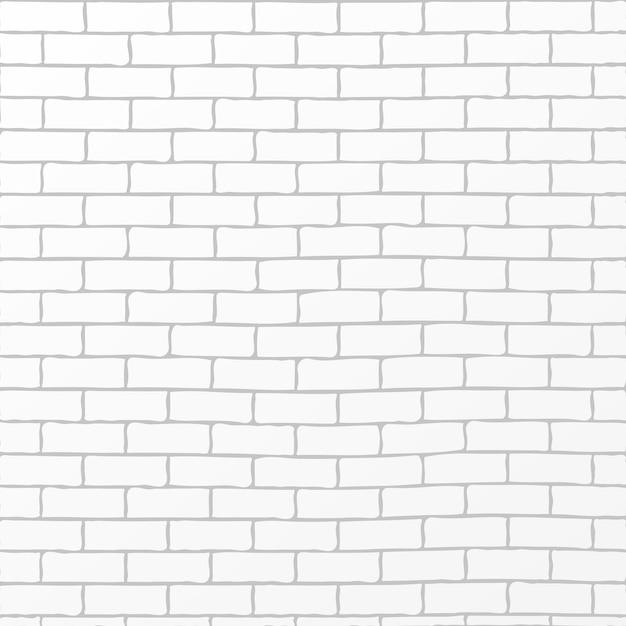 Vetor de fundo rústico tijolo branco Vetor Premium