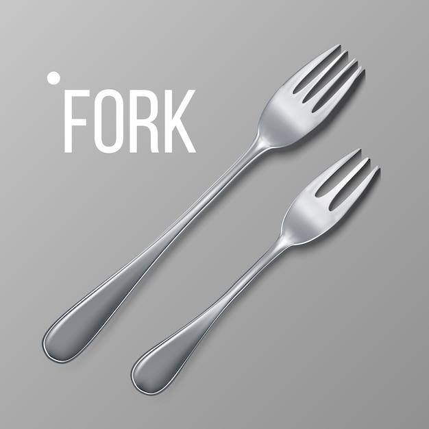 Vetor de garfo Vetor Premium