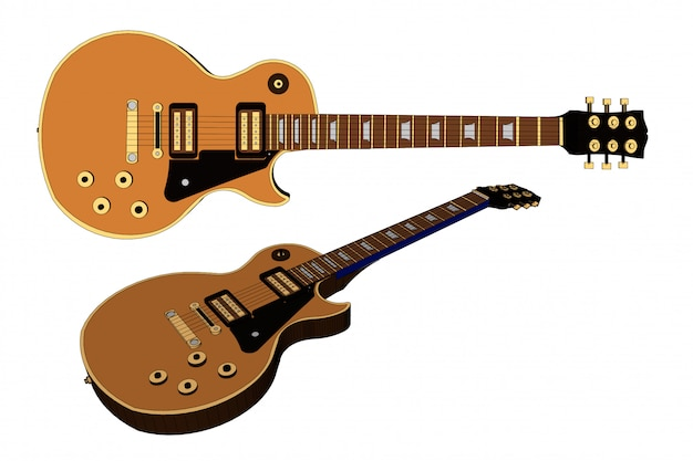 Vetor de guitarra Vetor Premium