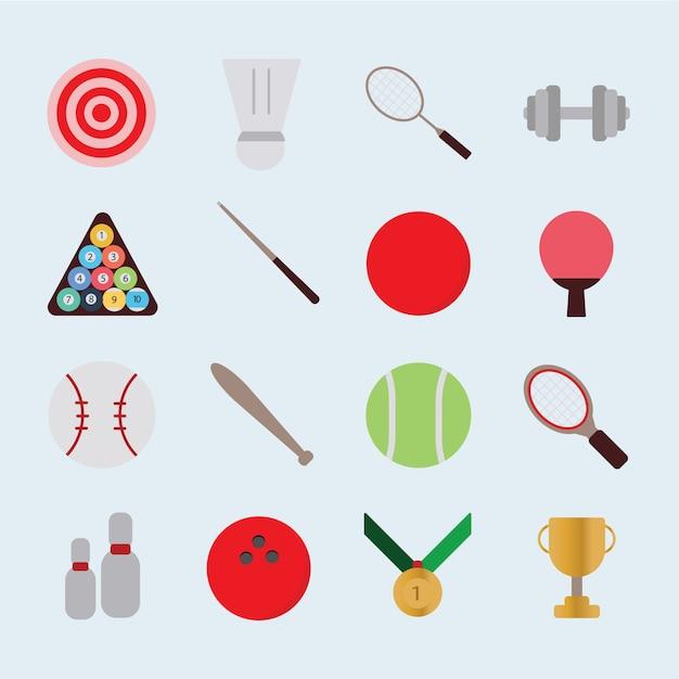 Vetor de ícone de esporte Vetor Premium