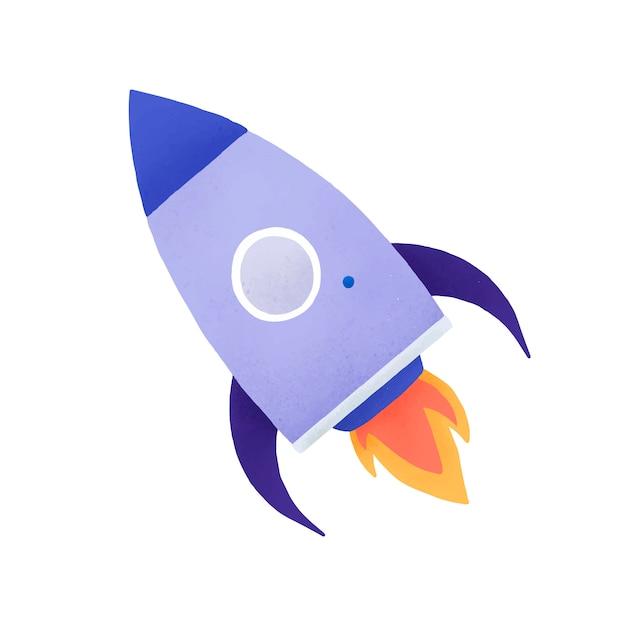 Vetor de ícone de mídia social de foguete Vetor grátis