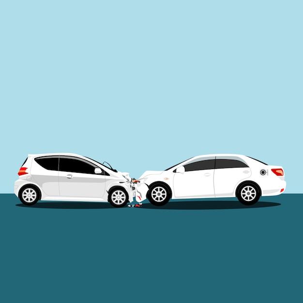 Vetor de ícones de acidente de carro Vetor Premium