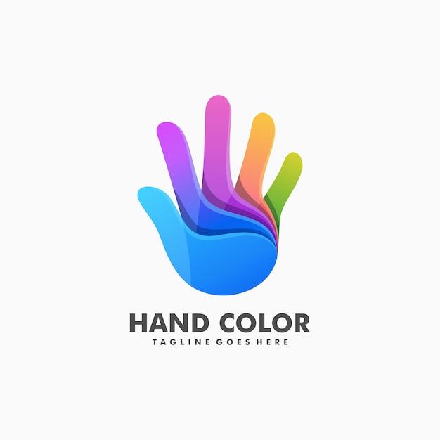 Vetor de ilustração colorida mão Vetor Premium