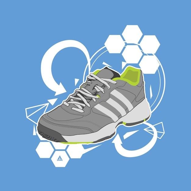 Vetor de ilustração de sapatos Vetor Premium