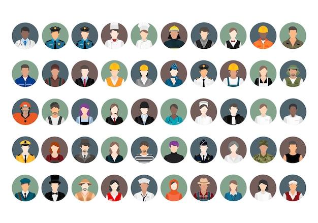 Vetor de ilustração de várias carreiras e profissões Vetor grátis
