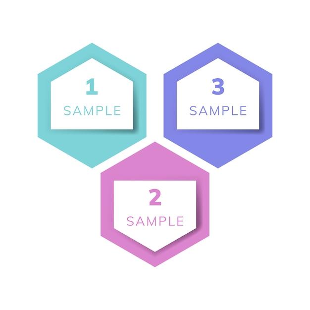 Vetor de infográfico de negócio de exemplo de carta Vetor grátis