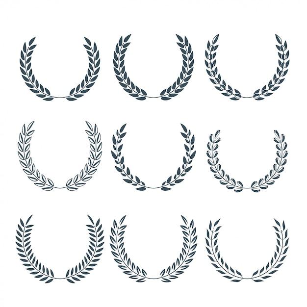 Vetor de laurel wreath Vetor Premium