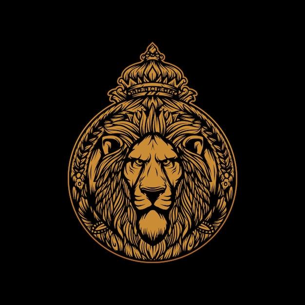 Vetor de leão rei Vetor Premium