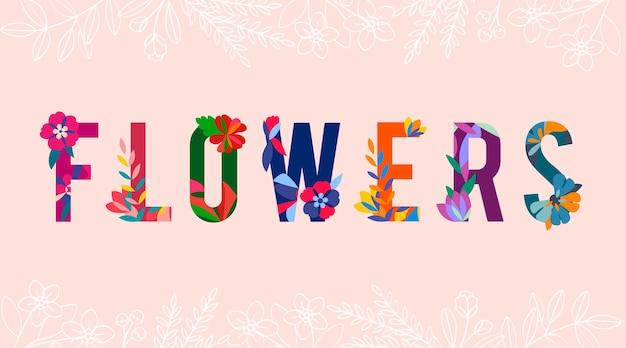 Vetor de letras estampadas florais Vetor grátis