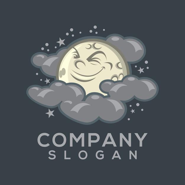 Vetor de logotipo da lua Vetor Premium