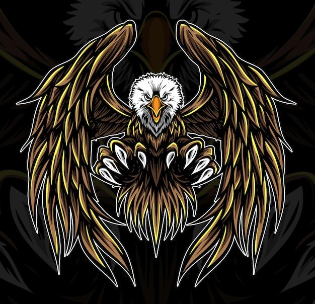 Vetor de logotipo de águia Vetor Premium