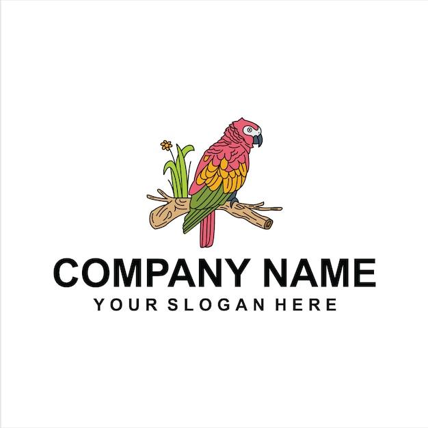 Vetor de logotipo de aves Vetor Premium