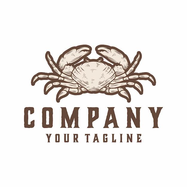 Vetor de logotipo de caranguejo Vetor Premium