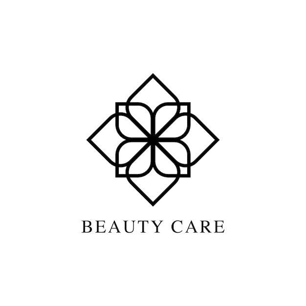 Vetor de logotipo de design de cuidados de beleza Vetor grátis