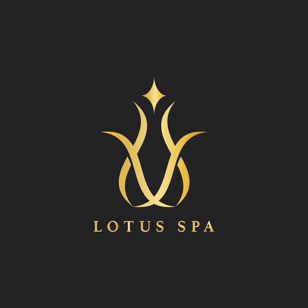 Vetor de logotipo de design de spa de lótus Vetor grátis