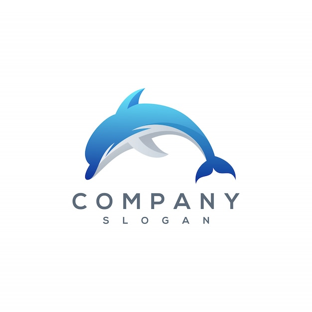 Vetor de logotipo de golfinho Vetor Premium