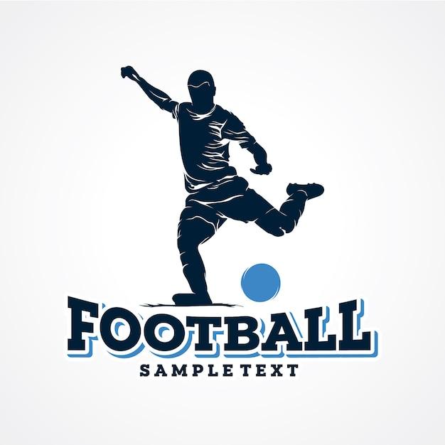 Vetor de logotipo de jogador de futebol premium vector Vetor Premium
