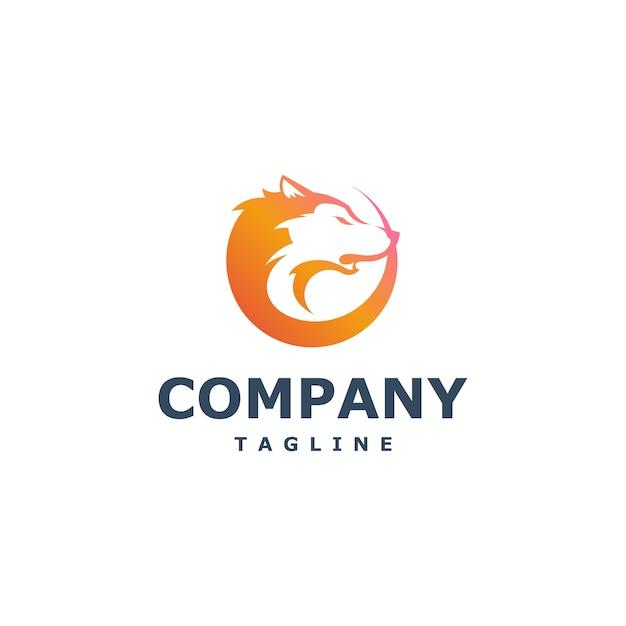 Vetor de logotipo de lobo Vetor Premium