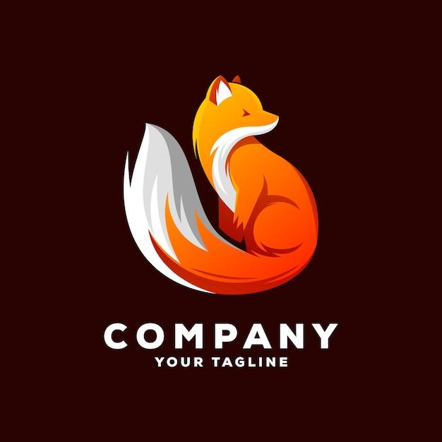 Vetor de logotipo de raposa Vetor Premium