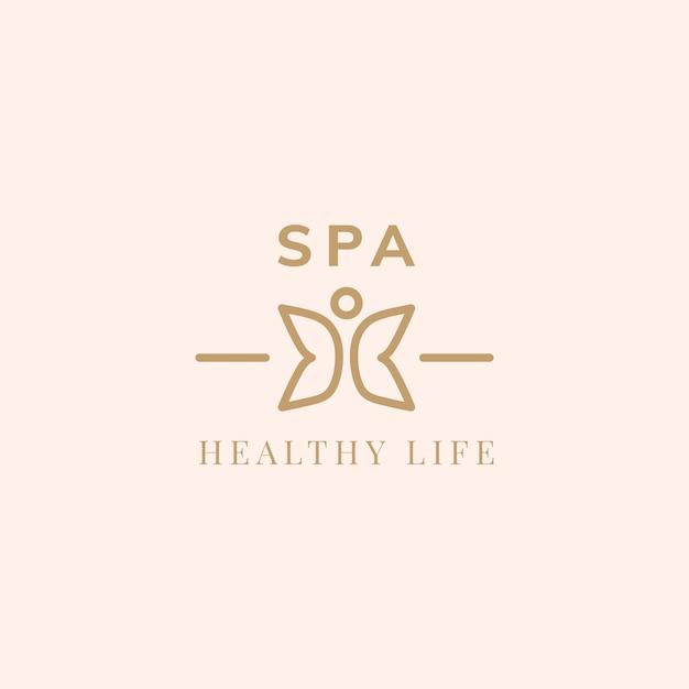 Vetor de logotipo de vida saudável spa Vetor grátis