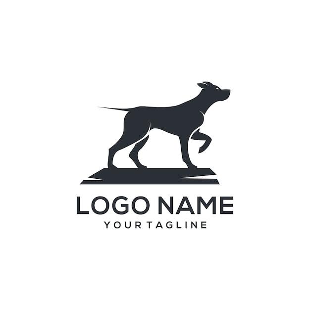 Vetor de logotipo do cão Vetor Premium