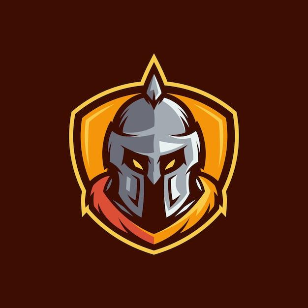 Vetor de logotipo espartano Vetor Premium