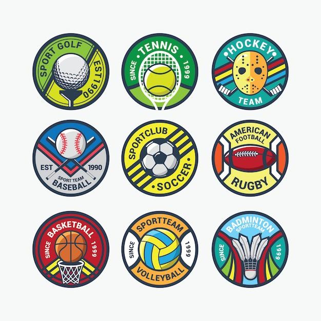 Vetor de logotipo internacional de esporte Vetor Premium