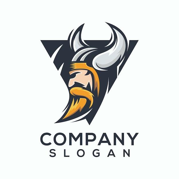 Vetor de logotipo viking Vetor Premium