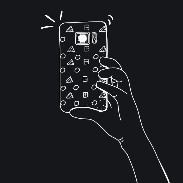 Vetor de mãos tirando foto com smartphone Vetor grátis