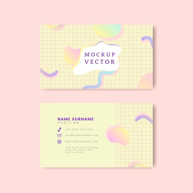 Vetor de maquete de cartão de nome pastel Vetor grátis