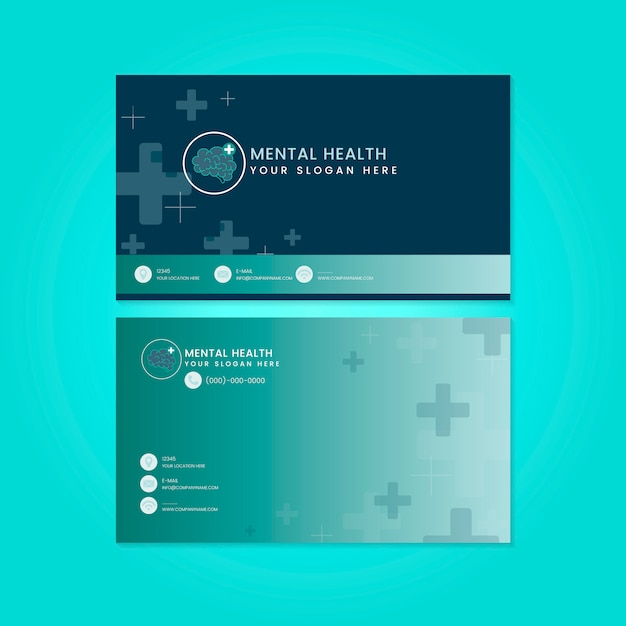 Vetor de maquete de psiquiatra de saúde mental Vetor grátis