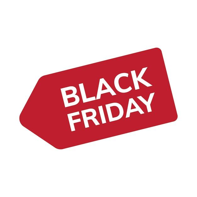 Vetor de marca de venda de sexta-feira negra Vetor grátis