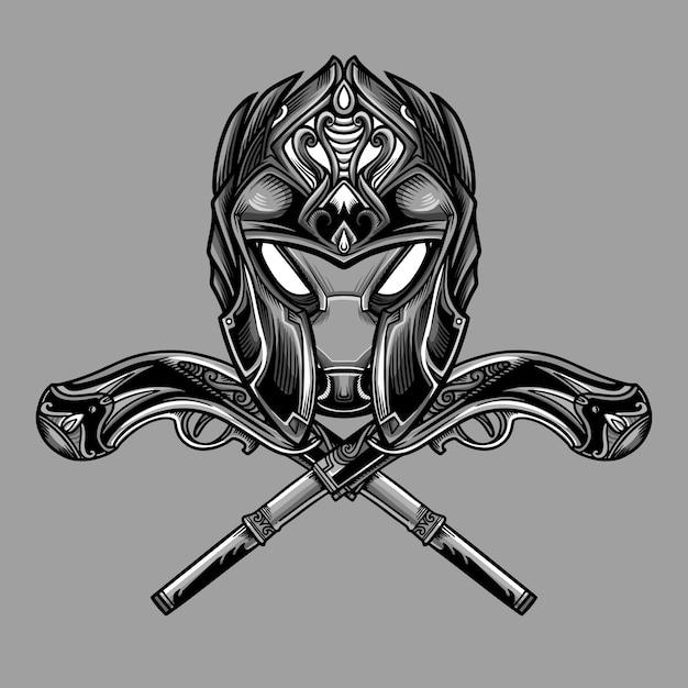 Vetor de máscara de artilheiro afiado Vetor Premium