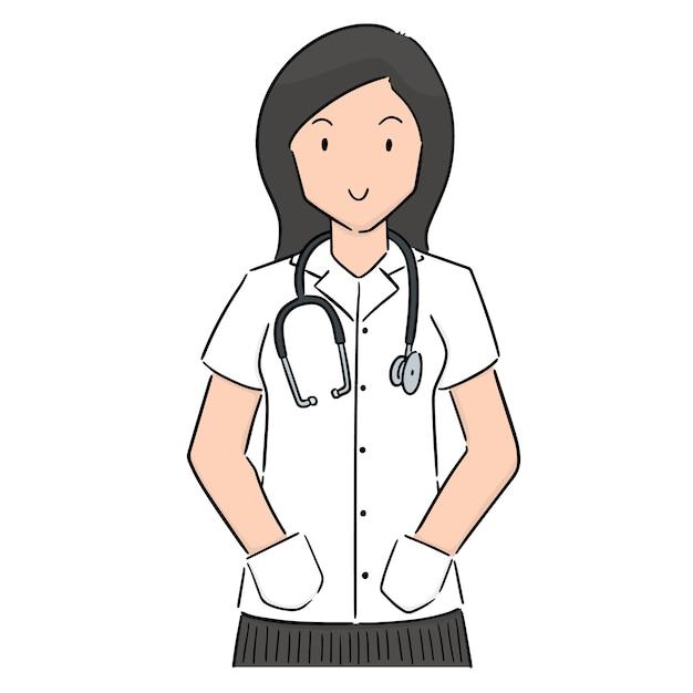 Vetor de médico Vetor Premium