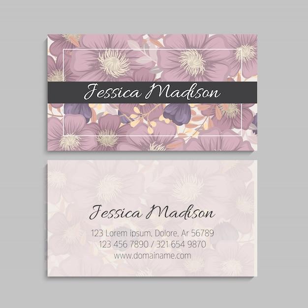 Vetor de modelo de cartão de estilo floral Vetor grátis