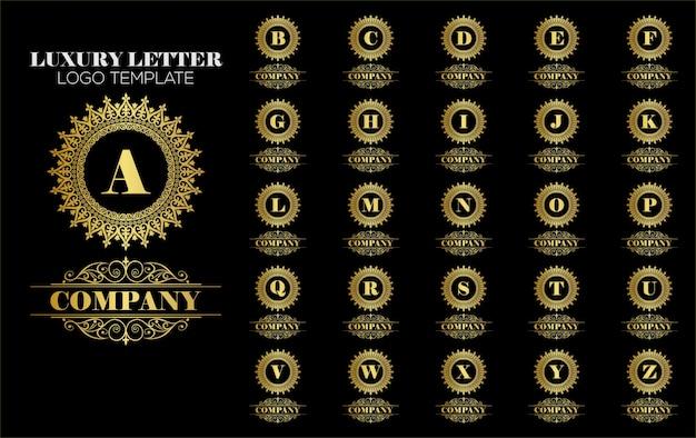 Vetor de modelo de logotipo vintage real Vetor Premium