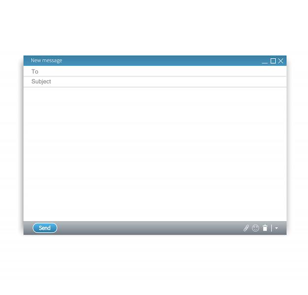 Vetor de modelo em branco de e-mail Vetor Premium
