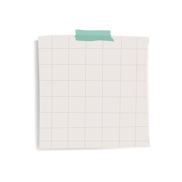 Vetor de nota de papel lembrete grade quadrada em branco Vetor grátis