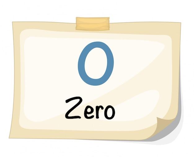 Vetor de número zero Vetor Premium