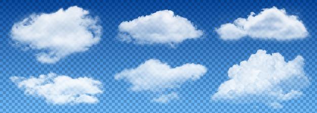 Vetor de nuvem de transparência Vetor Premium