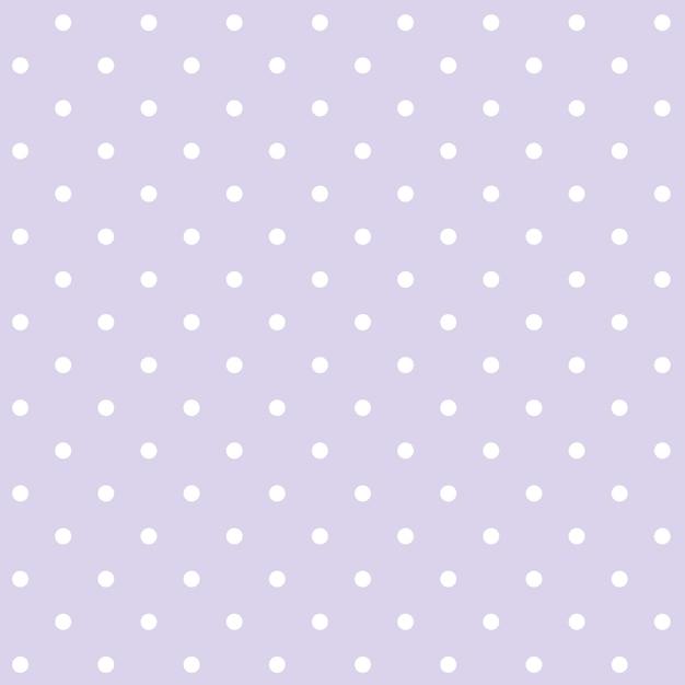 Vetor de padrão de bolinhas sem costura roxo e branco Vetor grátis