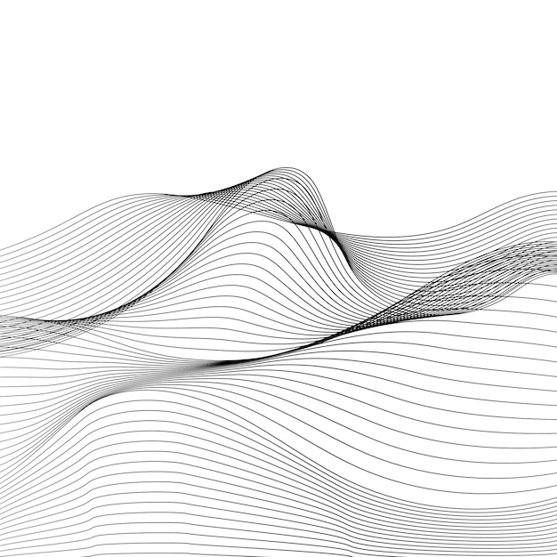 Vetor de padrão de onda dinâmica de visualização de dados Vetor grátis