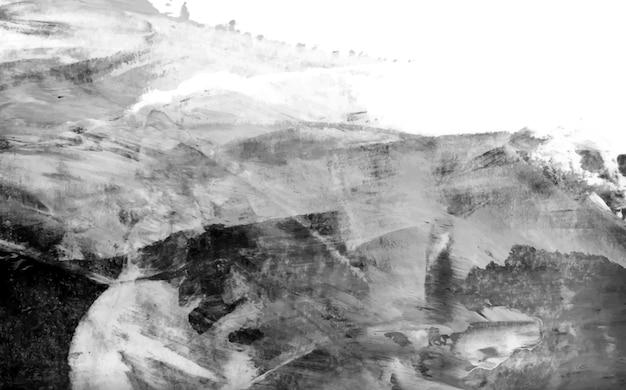 Vetor de plano de fundo texturizado de traçado de pincel acrílico preto e branco Vetor grátis