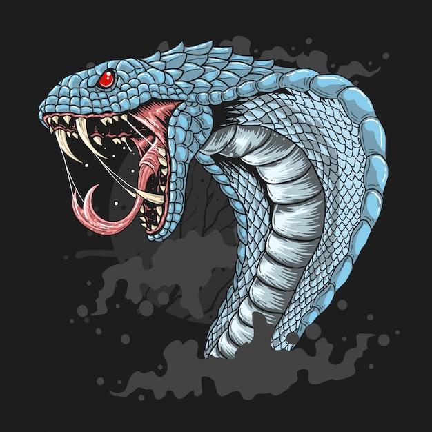 Vetor de serpente cobra Vetor Premium